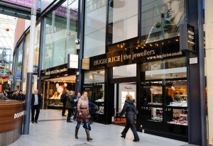 Hugh Rice Jewellers, Hull showroom in St Stephen's shopping centre. November 29, 2012.